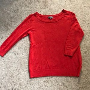 Coral 3/4 sleeve sweater